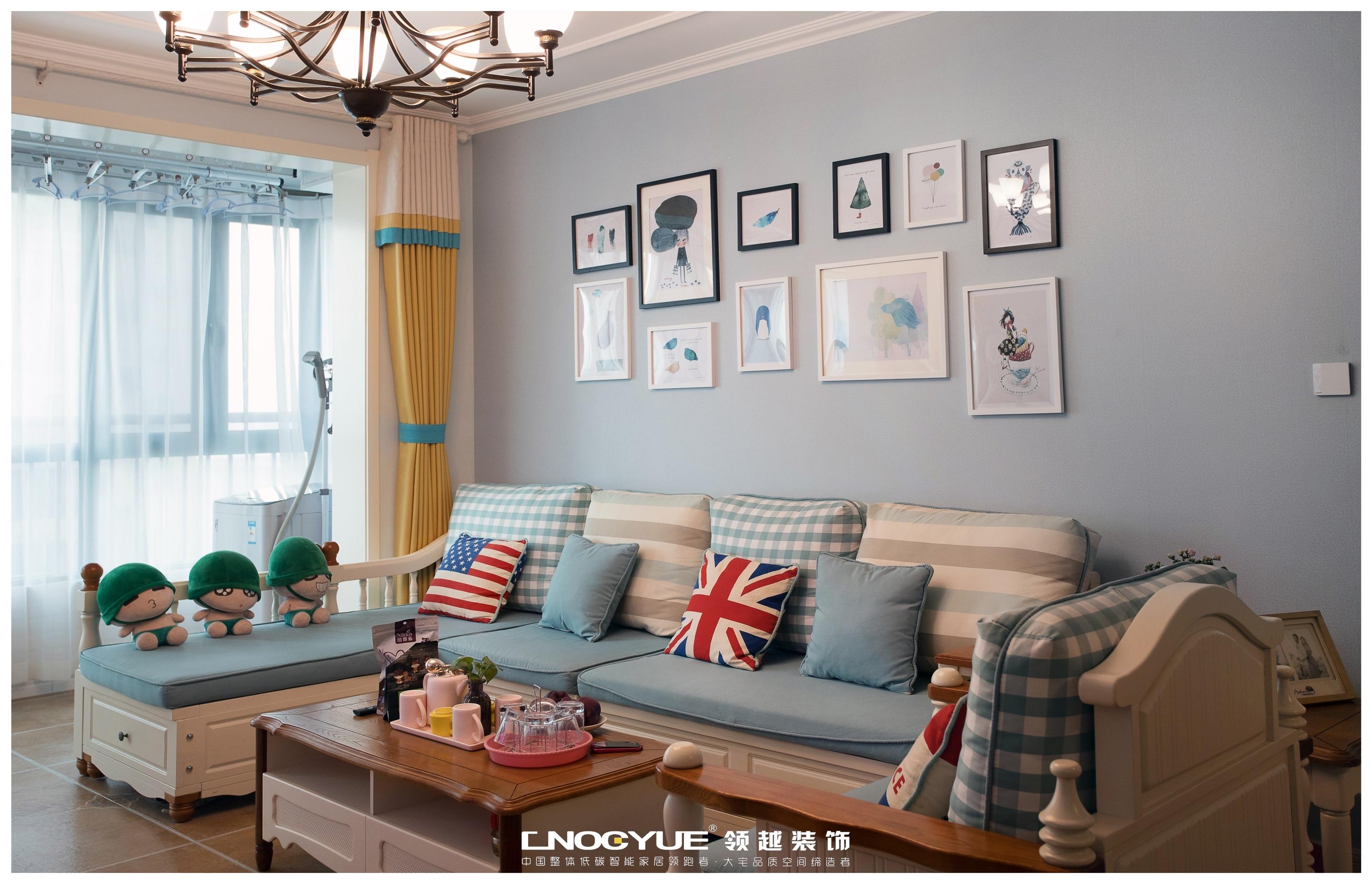 田园 三居 80后 小资 清新 客厅图片来自河北领越装饰在清婉&半夏的分享
