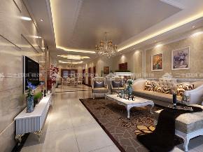 欧式 别墅 奢华 华贵 贵气 80后 高富帅 白富美 未来家 客厅图片来自二十四城装饰(集团)昆明公司在惠景园  欧式奢华风的分享