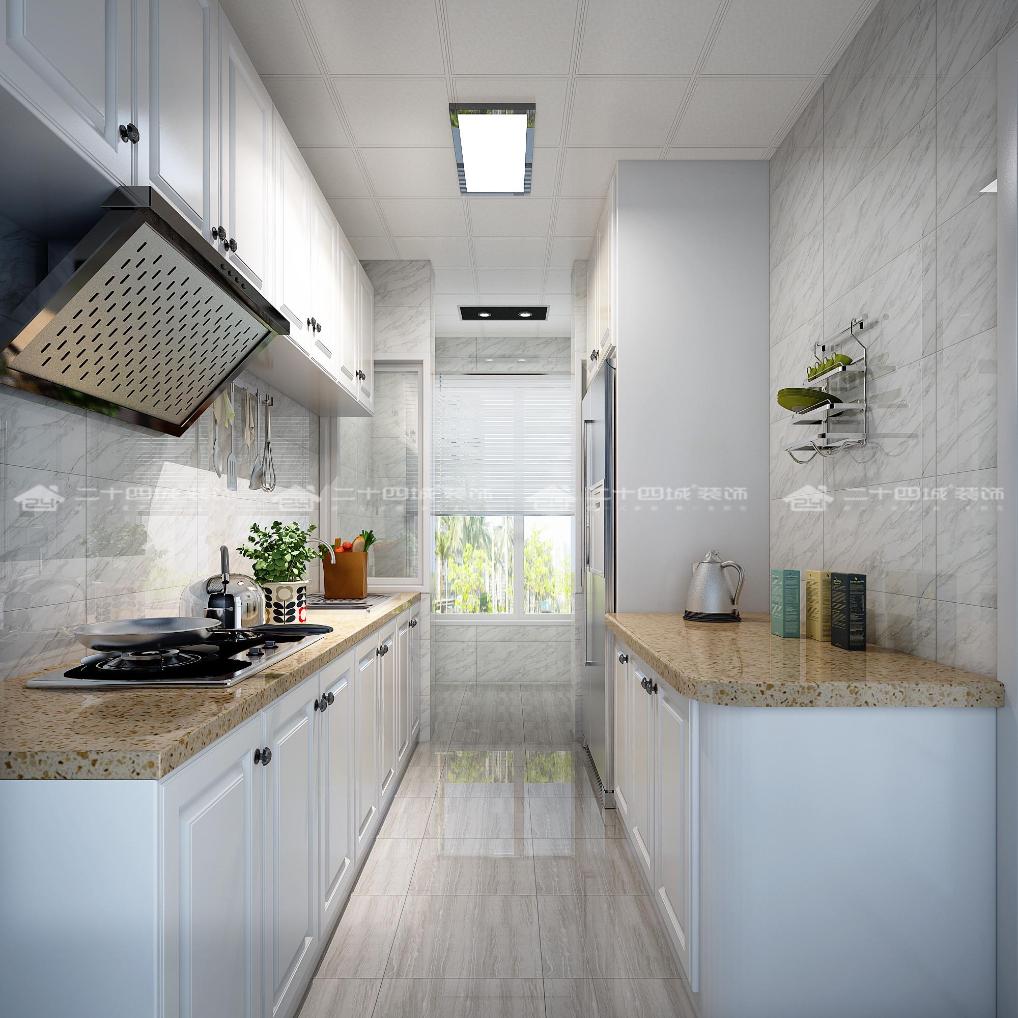 欧式 白领 小资 梦想改造家 清新 文艺 舒适 简约 厨房图片来自二十四城装饰(集团)昆明公司在银海泊岸 简欧的分享