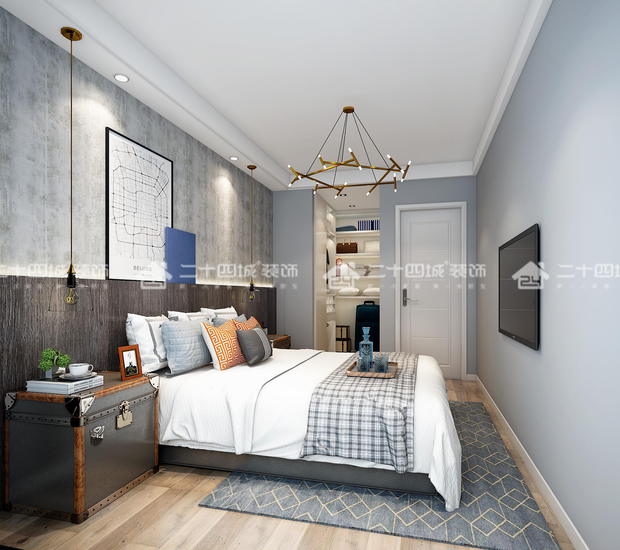 现代轻奢 奢侈 混搭 白领 80后 小资 高富帅 白富美 未来家 卧室图片来自二十四城装饰(集团)昆明公司在俊发观云海的分享