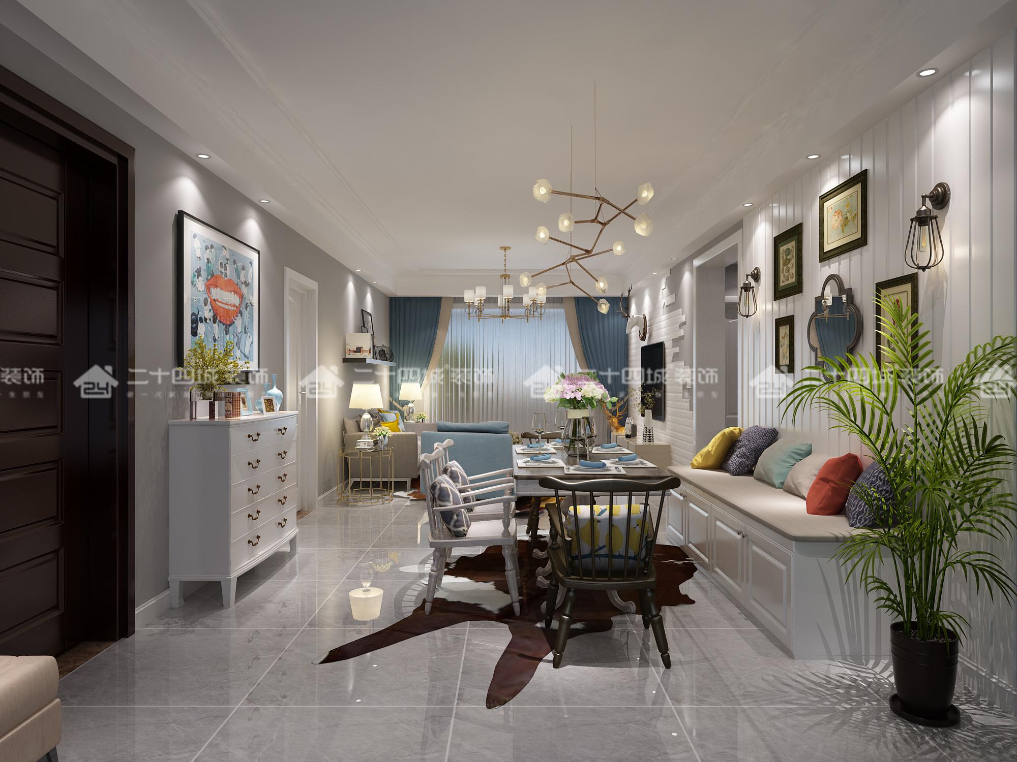 欧式 三居 白领 80后 小资 北欧 清新 舒适 定制家装 客厅图片来自二十四城装饰(集团)昆明公司在昆明湖  北欧的分享