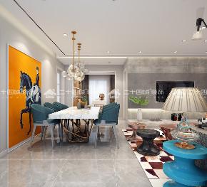 现代轻奢 奢侈 混搭 白领 80后 小资 高富帅 白富美 未来家 餐厅图片来自二十四城装饰(集团)昆明公司在俊发观云海的分享