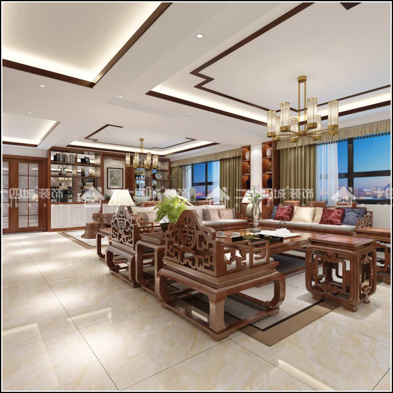 新中式 中式 古典 舒适 定制家装 未来家 客厅图片来自二十四城装饰(集团)昆明公司在伟龙花园 新中式的分享