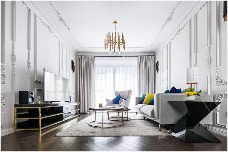 简约 混搭 北欧 现代 基装 私人定制 全案设计 鹏友百年 家装 客厅图片来自鹏友百年装饰在柠檬黄与宝石蓝的分享