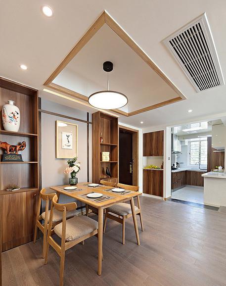 餐厅图片来自家装大管家在淡然儒雅 110平新中式雅致3居室的分享