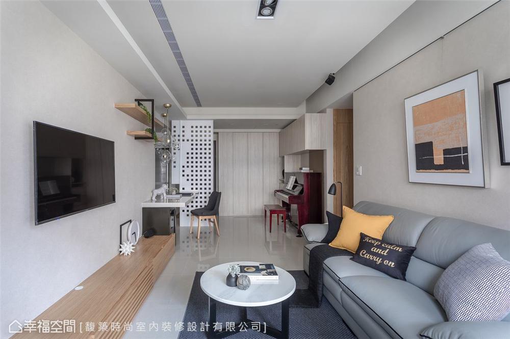 混搭 三居 装修设计 客厅图片来自幸福空间在56平,拥抱 舒适居家生活的分享
