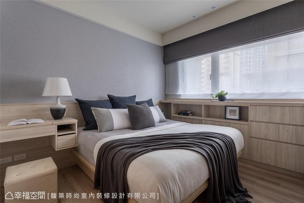 混搭 三居 装修设计 卧室图片来自幸福空间在56平,拥抱 舒适居家生活的分享