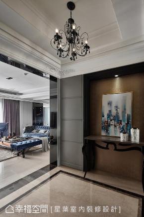 新古典 装修设计 标准格局 玄关图片来自幸福空间在165平,完美诠释混搭经典的分享