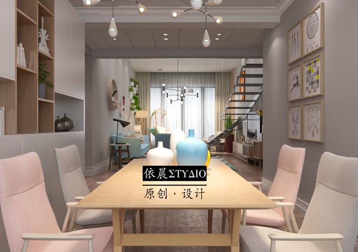 阁楼 溪湖林语 现代 餐厅图片来自百家设计小刘在格林玫瑰湾117平日式风格的分享