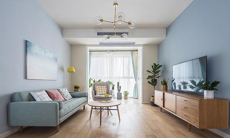 客厅图片来自家装大管家在美观大方 89平现代简约混搭空间的分享