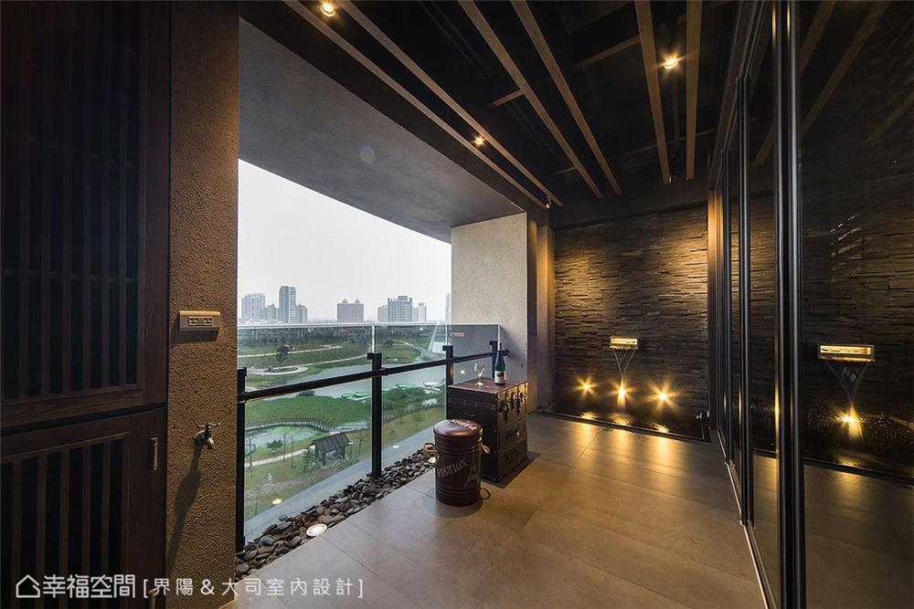 """小资 工业风格 装修设计 阳台图片来自幸福空间在99平,有一种人文叫""""大司""""的分享"""