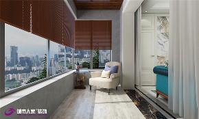 美式 简约 阳台图片来自济南城市人家装修公司-在恒大翡翠华庭装修效果图的分享