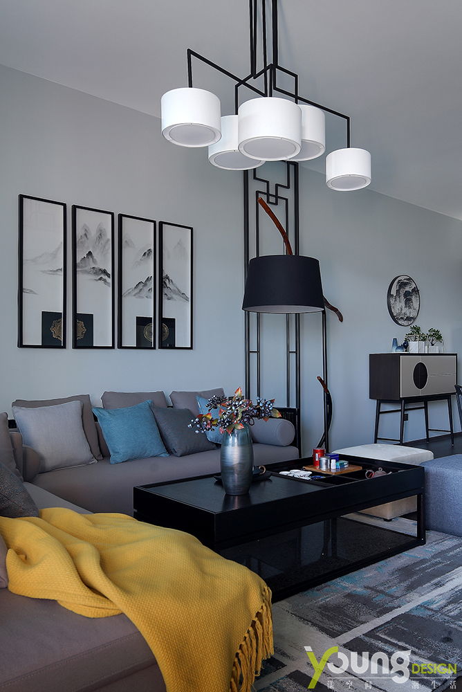 三居 新中式 客厅图片来自漾设计在深圳漾设计《一叶知秋》的分享