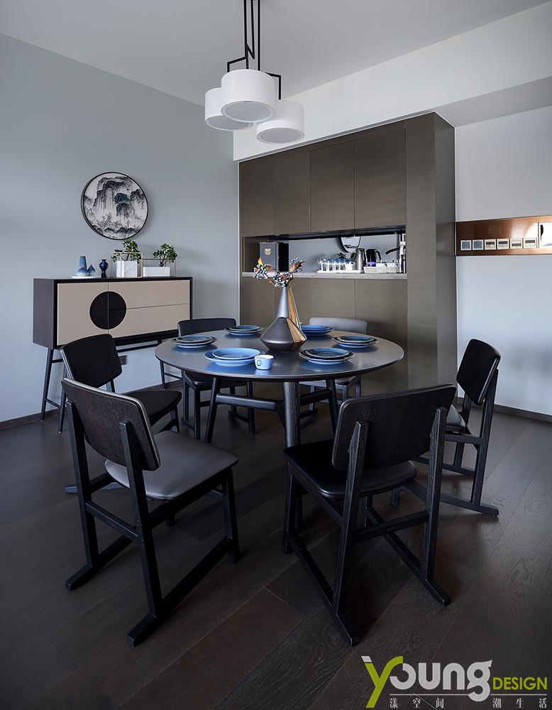 三居 新中式 餐厅图片来自漾设计在深圳漾设计《一叶知秋》的分享