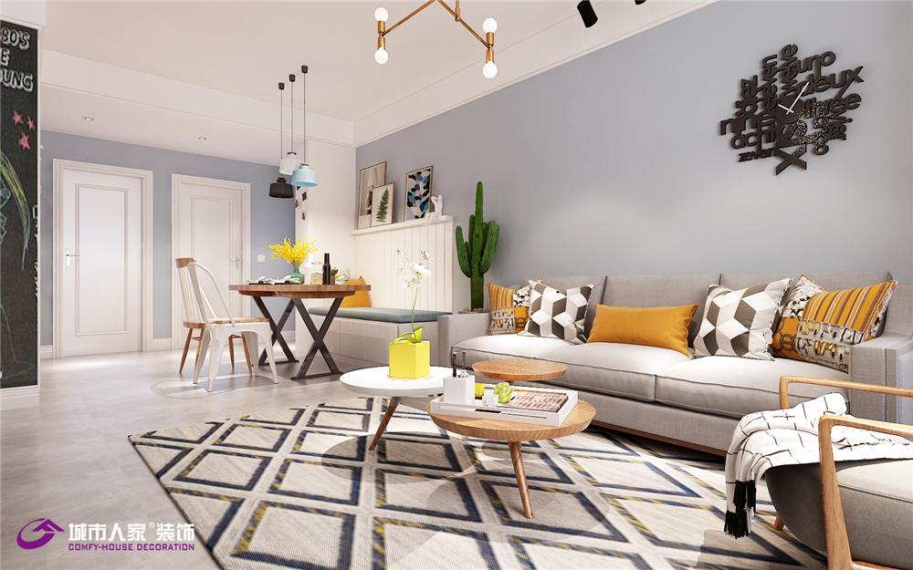 北欧 新悦城 客厅图片来自济南城市人家装修公司-在中建新悦城装修三居室北欧风的分享