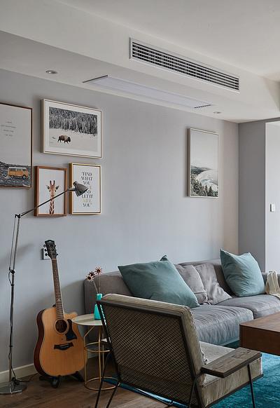 客厅图片来自家装大管家在90平现代简约空间 气质优雅随性的分享