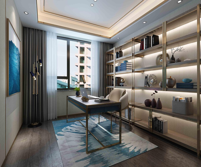 三居 书房图片来自云南俊雅装饰工程有限公司在枫林盛景的分享