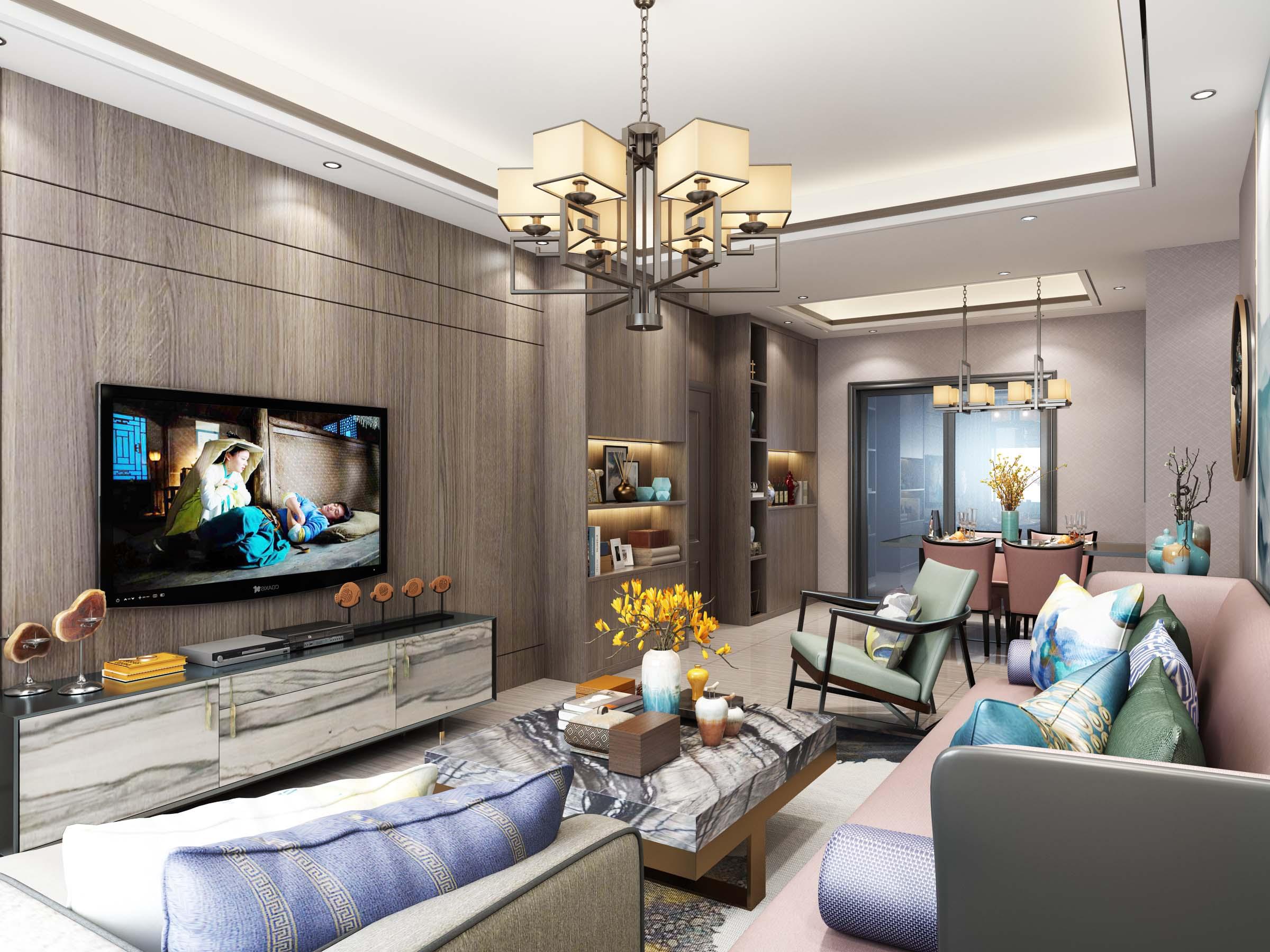 三居 客厅图片来自云南俊雅装饰工程有限公司在枫林盛景的分享
