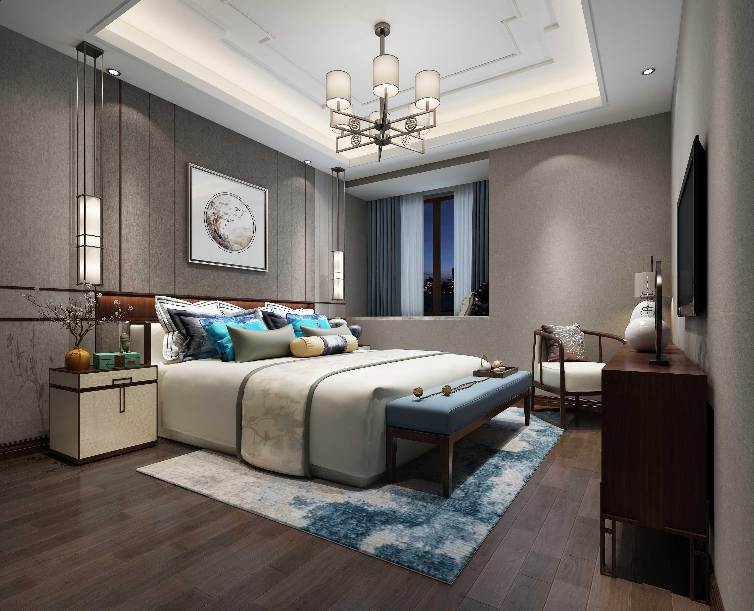 三居 卧室图片来自云南俊雅装饰工程有限公司在枫林盛景的分享