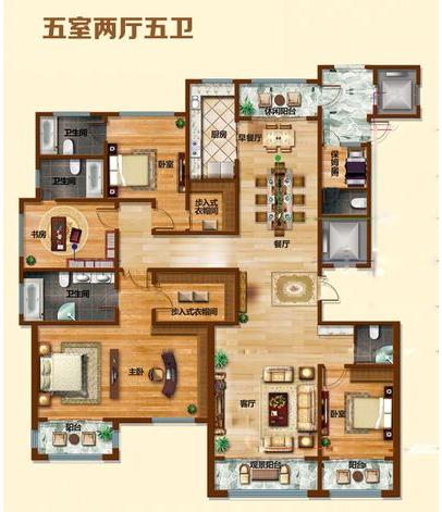 现代 装修风格 方案案例 户型图图片来自大业美家 家居装饰在石家庄装修奥北公元现代风格的分享