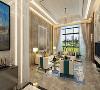 石家庄装修奥北公元二期260平米现代风格客厅装修