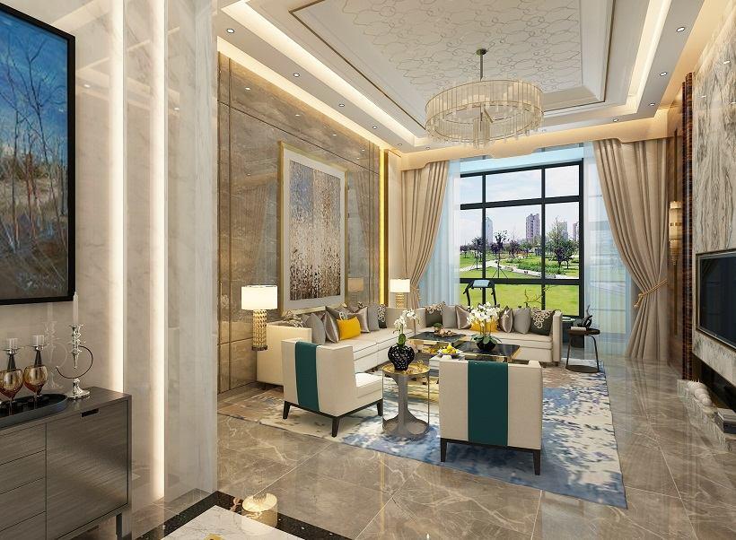 现代 装修风格 方案案例 客厅图片来自大业美家 家居装饰在石家庄装修奥北公元现代风格的分享
