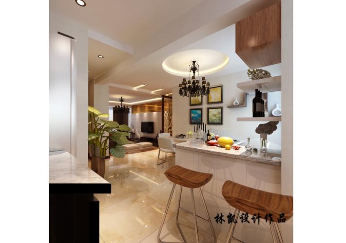 三居 紫提东郡 现代风格 餐厅图片来自百家设计小刘在紫提东郡130平现代风格半包5.5万的分享
