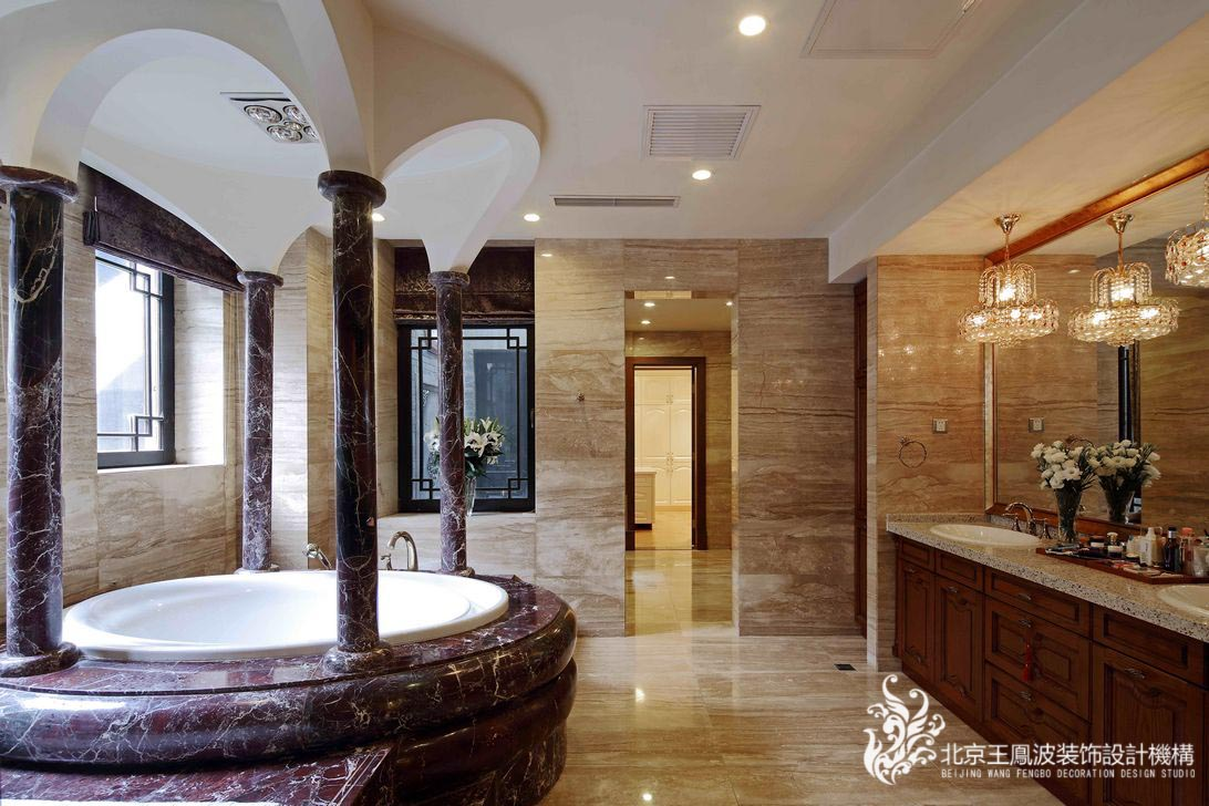 卫生间图片来自王凤波设计机构在中式别墅设计:晴翠园的分享