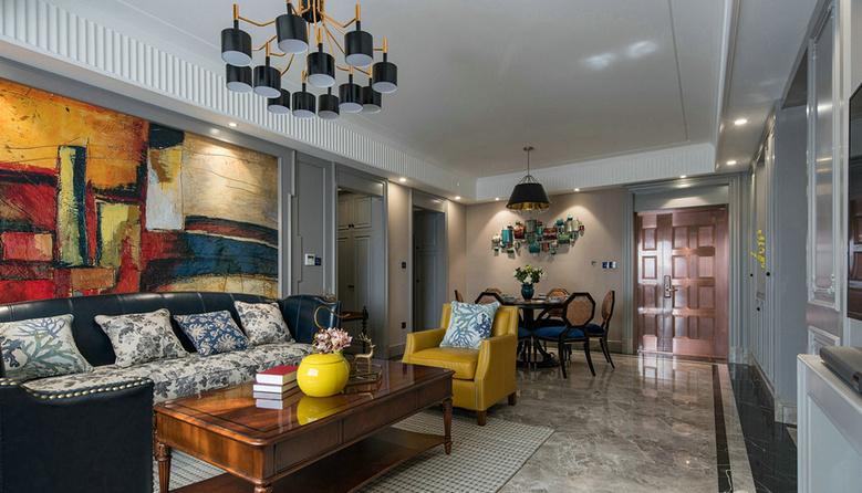 客厅图片来自家装大管家在温馨舒适 120平美式摩登混搭3居的分享