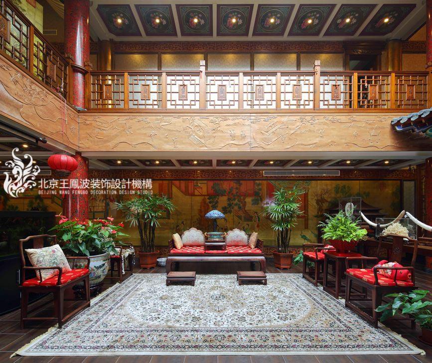 客厅图片来自王凤波设计机构在中式别墅设计:晴翠园的分享