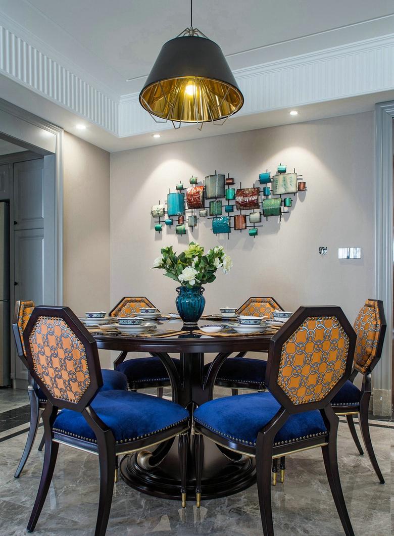 餐厅图片来自家装大管家在温馨舒适 120平美式摩登混搭3居的分享