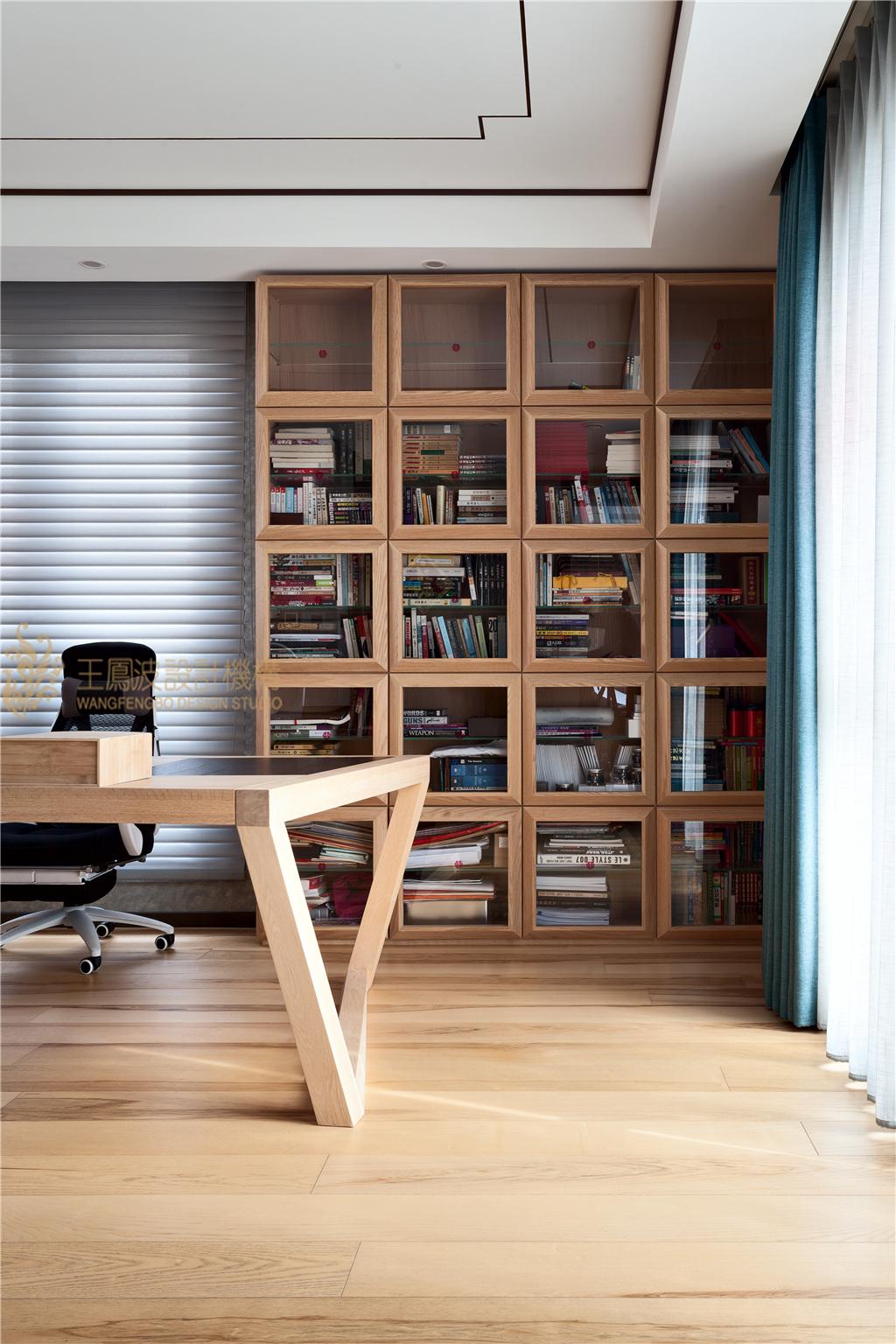 别墅 新中式 王凤波 千章墅 书房图片来自王凤波设计机构在一瓣心莲幽幽暗香的分享