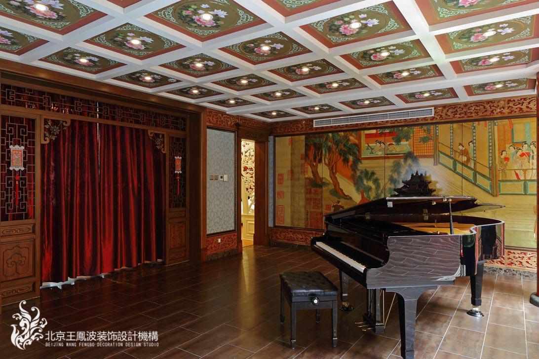 餐厅图片来自王凤波设计机构在中式别墅设计:晴翠园的分享