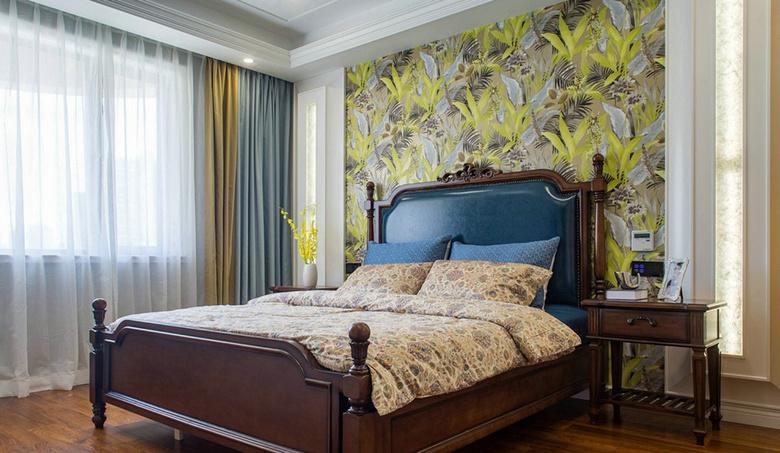 卧室图片来自家装大管家在温馨舒适 120平美式摩登混搭3居的分享