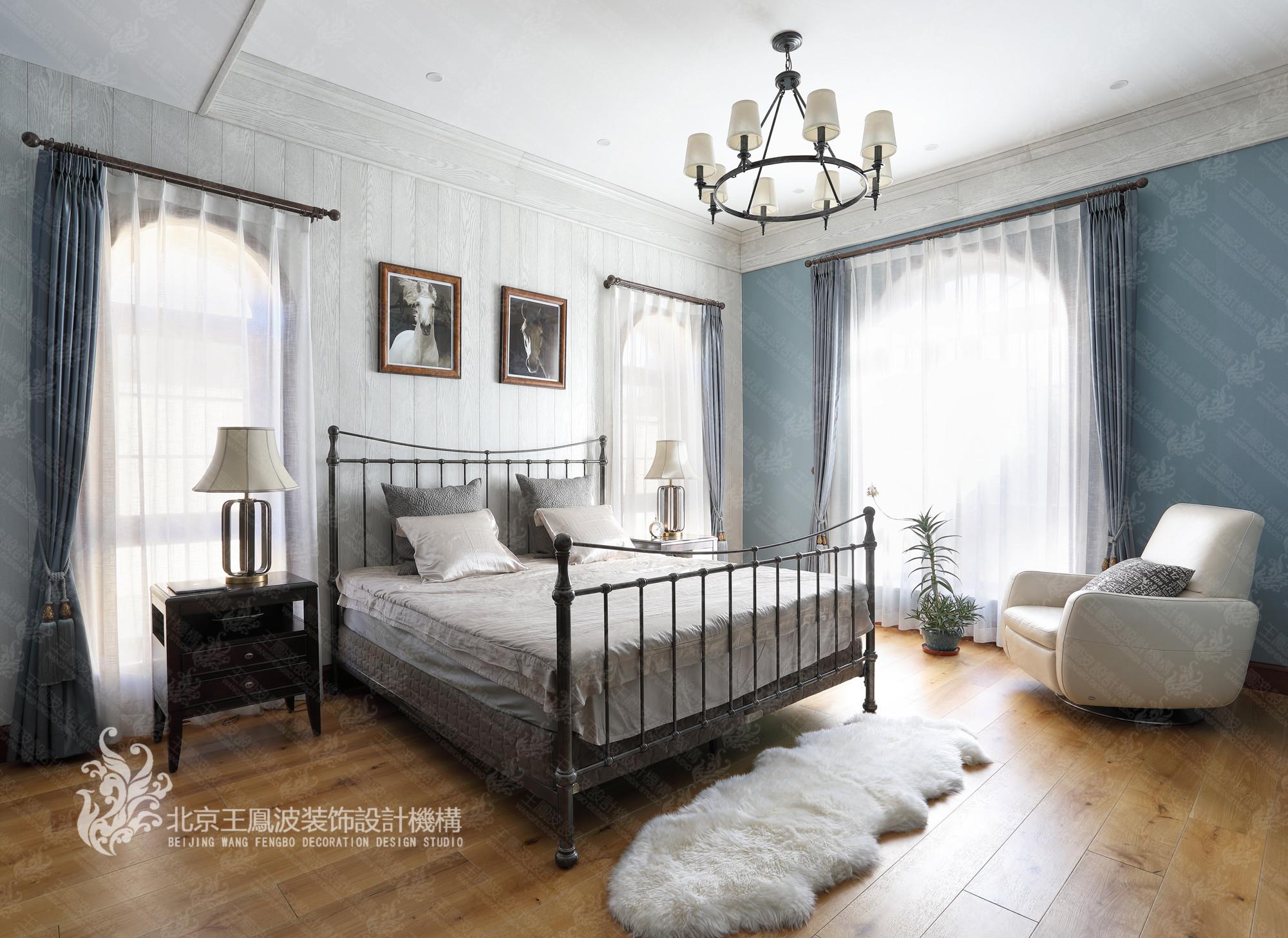 别墅 卧室图片来自王凤波设计机构在春风十里不如你的分享