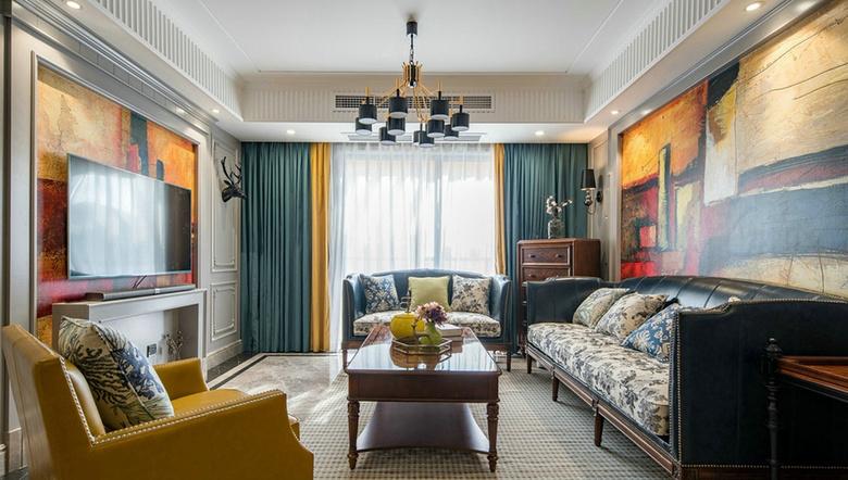 混搭 美式 三居 白领 客厅图片来自家装大管家在温馨舒适 120平美式摩登混搭3居的分享