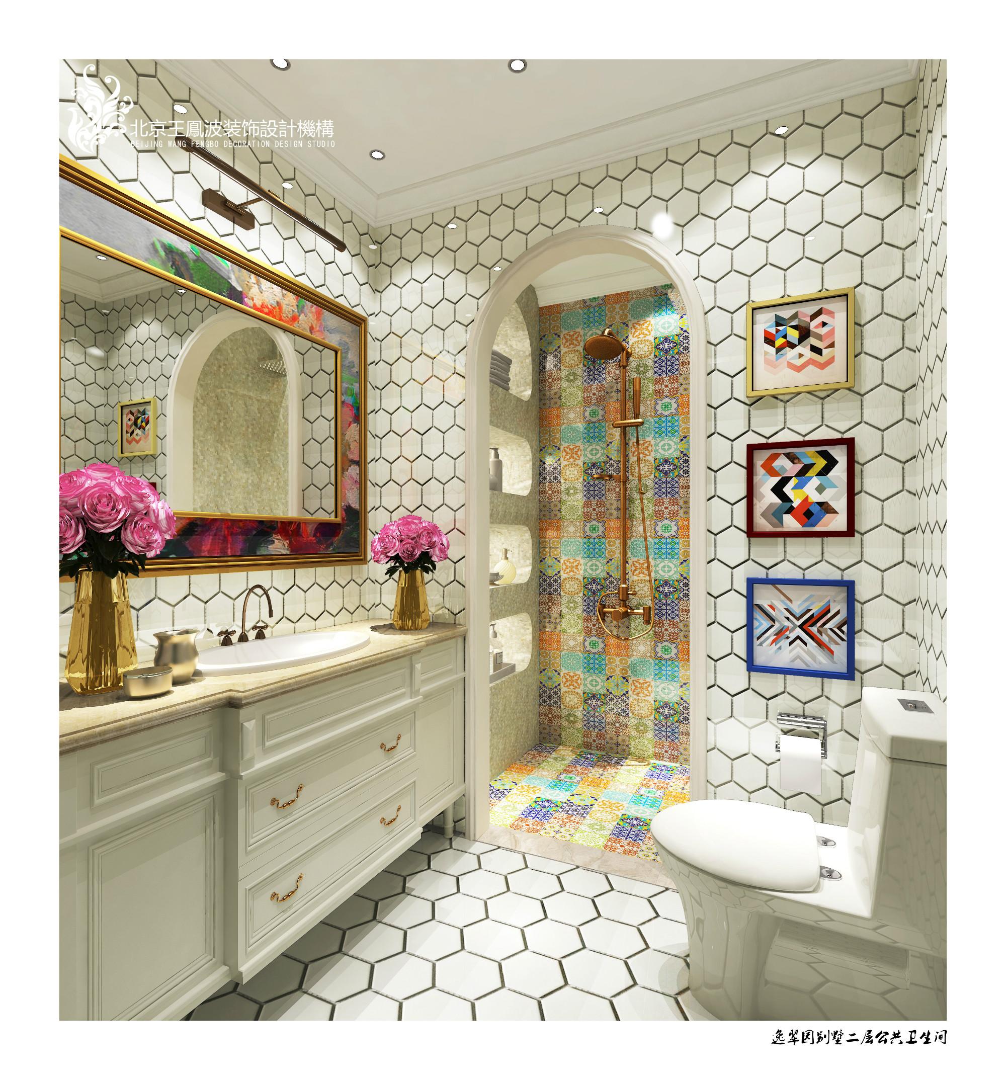 卫生间图片来自王凤波设计机构在逸翠园别墅,美宅如画的分享