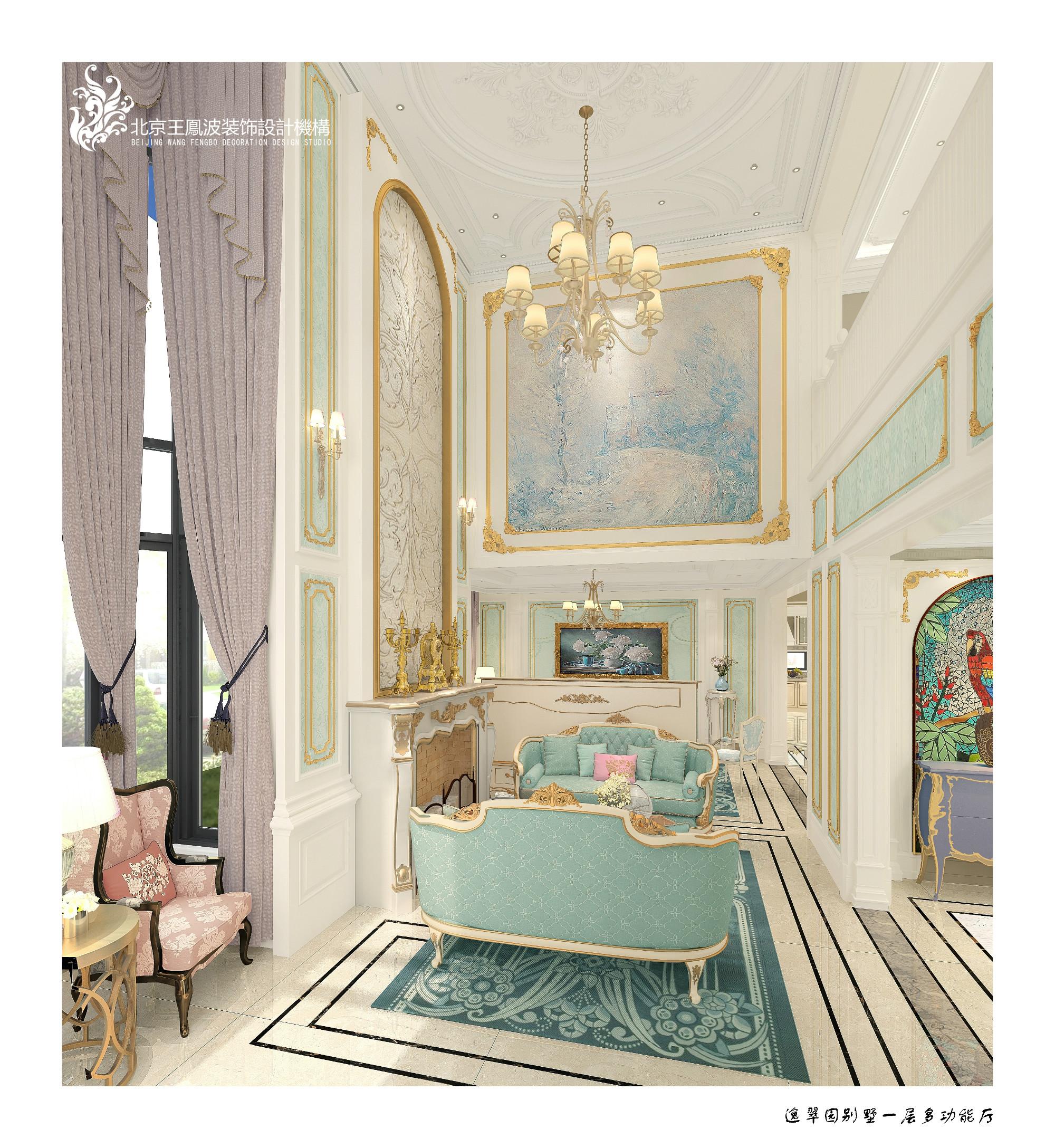 客厅图片来自王凤波设计机构在逸翠园别墅,美宅如画的分享