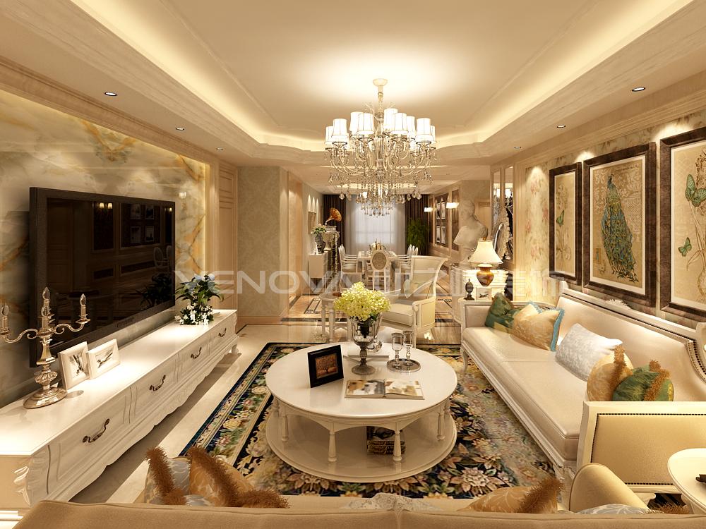 欧式 三居 白领 80后 小资 客厅图片来自业之峰沈阳公司在尚景新世界欧式风格装修设计的分享