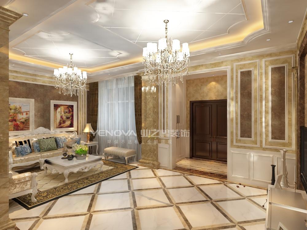 欧式 别墅 白领 80后 小资 暖色系 玄关图片来自业之峰沈阳公司在简欧风格装修别墅的分享