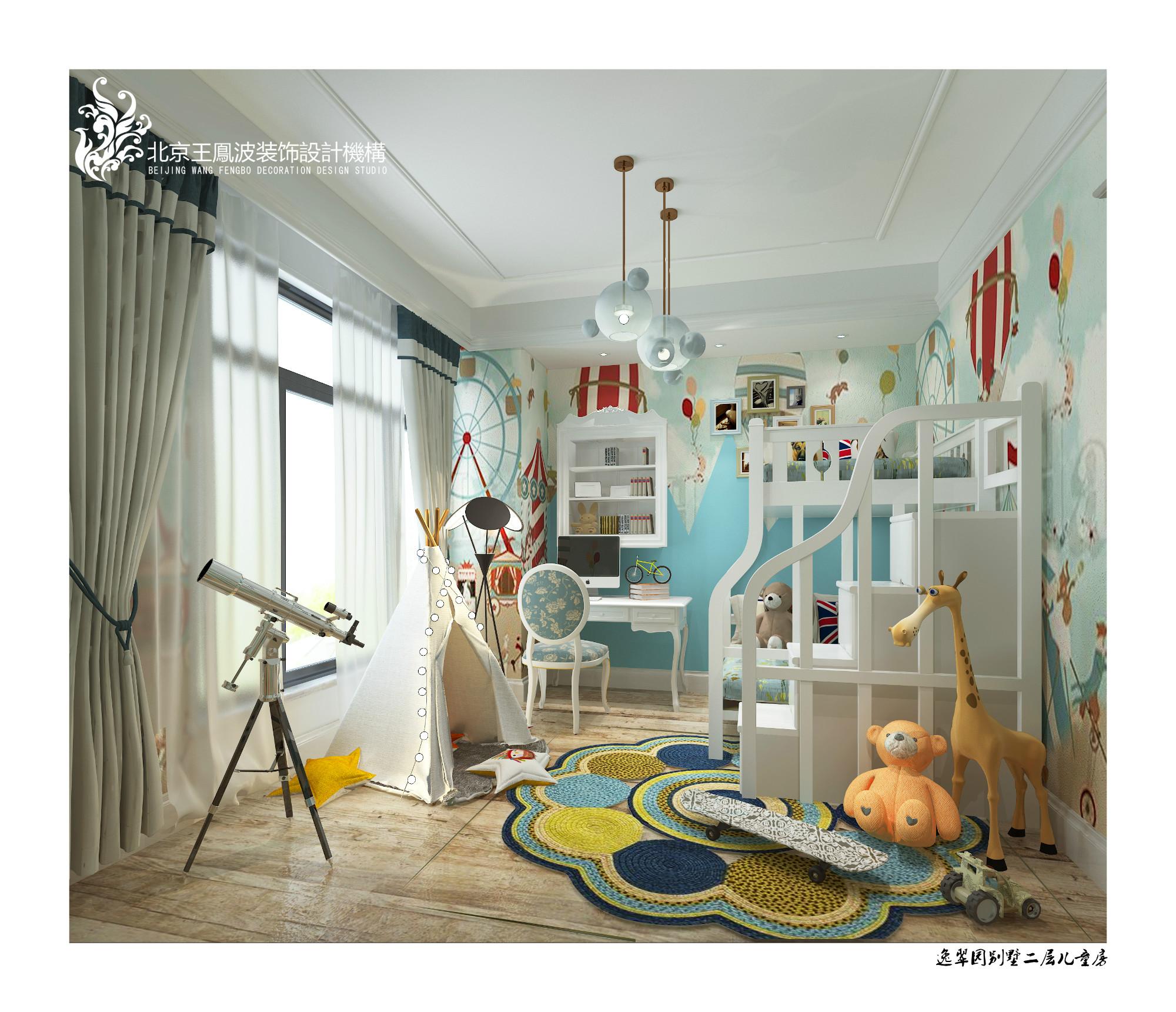 儿童房图片来自王凤波设计机构在逸翠园别墅,美宅如画的分享
