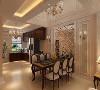 餐厅空间挑空的形式,空间高挑开阔,用餐时有别样的心情。