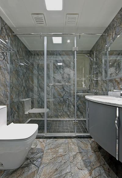 卫生间图片来自家装大管家在浓郁鲜明 109平美式现代混搭3居的分享