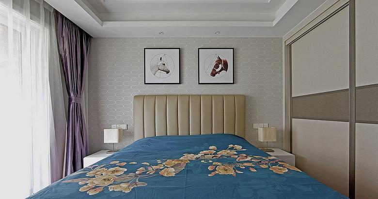 卧室图片来自家装大管家在浓郁鲜明 109平美式现代混搭3居的分享