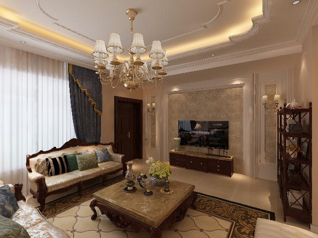 简约 欧式 别墅 白领 收纳 80后 小资 三居 客厅图片来自业之峰沈阳公司在孔雀城156平米欧式风格装修的分享