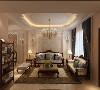 电视背景墙跟沙发背景墙相互对称,整体空间优雅有致。