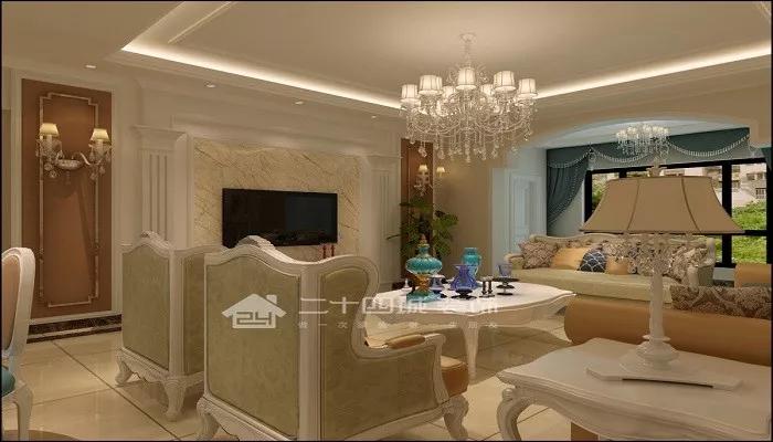 欧式 白领 80后 小资 古典 欧式古典 高富帅 白富美 混搭 客厅图片来自二十四城装饰(集团)昆明公司在东盟森林  欧式古典的分享