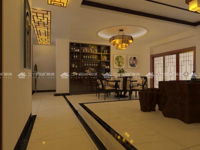 中式古韵 混搭 古典 三居 白领 80后 华贵 小资 梦想改造家 餐厅图片来自二十四城装饰(集团)昆明公司在滇池新城  中式古韵的分享