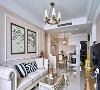 舒适感极强的皮艺沙发是客厅的焦点所在,加上不规则吊灯的光影点缀,使整个空间温馨、放松,而不失趣味。