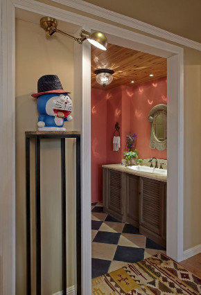 田园 旧房改造 小资 卫生间图片来自北京今朝装饰在田园三居室的分享
